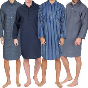 Mens-plain-EASY-CARE-LIGHTWEIGHT-SUMMER-NIGHTSHIRT-SIZES-M-L-XL-XXL-3XL