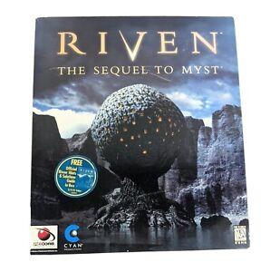 Riven The Sequel To Myst Big Box PC Game CD Rom Windows 95 Video Cyan Rare