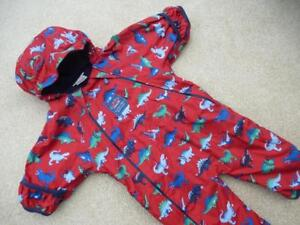 d58e9cbed JOJO MAMAN BEBE Waterproof Lined DINOSAUR Snowsuit 3-6m All ...