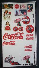COCA Cola Pubblicità decals 1:87 o h0