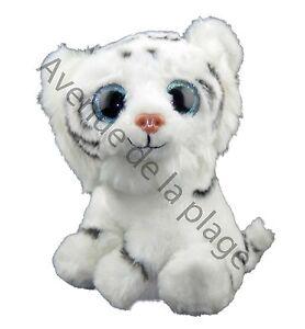 Peluche bebe Tigre blanc tres douce au touche, doudous pas cher, jouet, neuf