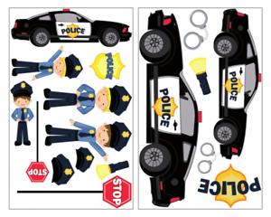 17x Polizei Wandtattoo Aufkleber Polizeiauto Kinderzimmer Polizist Sticker Set Ebay