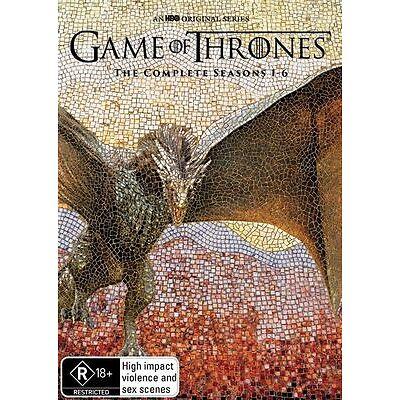 Game Of Thrones : Season 1-6 (DVD, 2016, 30-Disc Set)