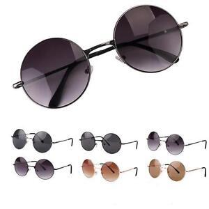 676ca3bf6f La imagen se está cargando Lente-Redondo-Vintage-Gafas-De-Sol-Marco-de-