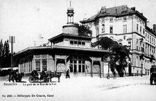 Reproduction photo d'une carte postale de la gare de Bruxelles-rue de la Loi