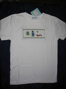 Smocked-Tee-Shirt-boys-BUGS-WORMS-4-Boys-Vive-La-Fete-NWT-NEW