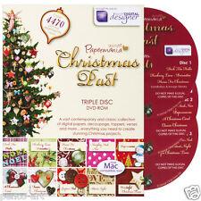 Papermania designer Christmas past triple disc DVD rom CDrom now mac compatible.
