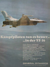 12/1974 PUB GENERAL DYNAMICS YF-16 US AIR FORCE FIGHTER ORIGINAL GERMAN AD