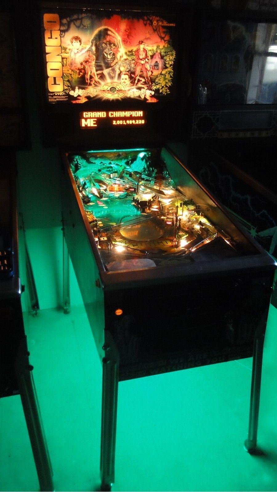 Scared Stiff Pinball Cabinet light mod GREEN Creature from the Black Lagoon