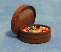 Box Of Reels, Sewing Room. Dolls House Miniature, 1.12th Scale