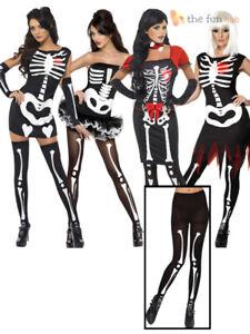 Adulte Skelton collants fantaisie robe dress up Halloween