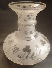 """6 1/8"""" Fitter Astral or Solar Hand Blown Glass Lamp Shade with Bellflower Design"""