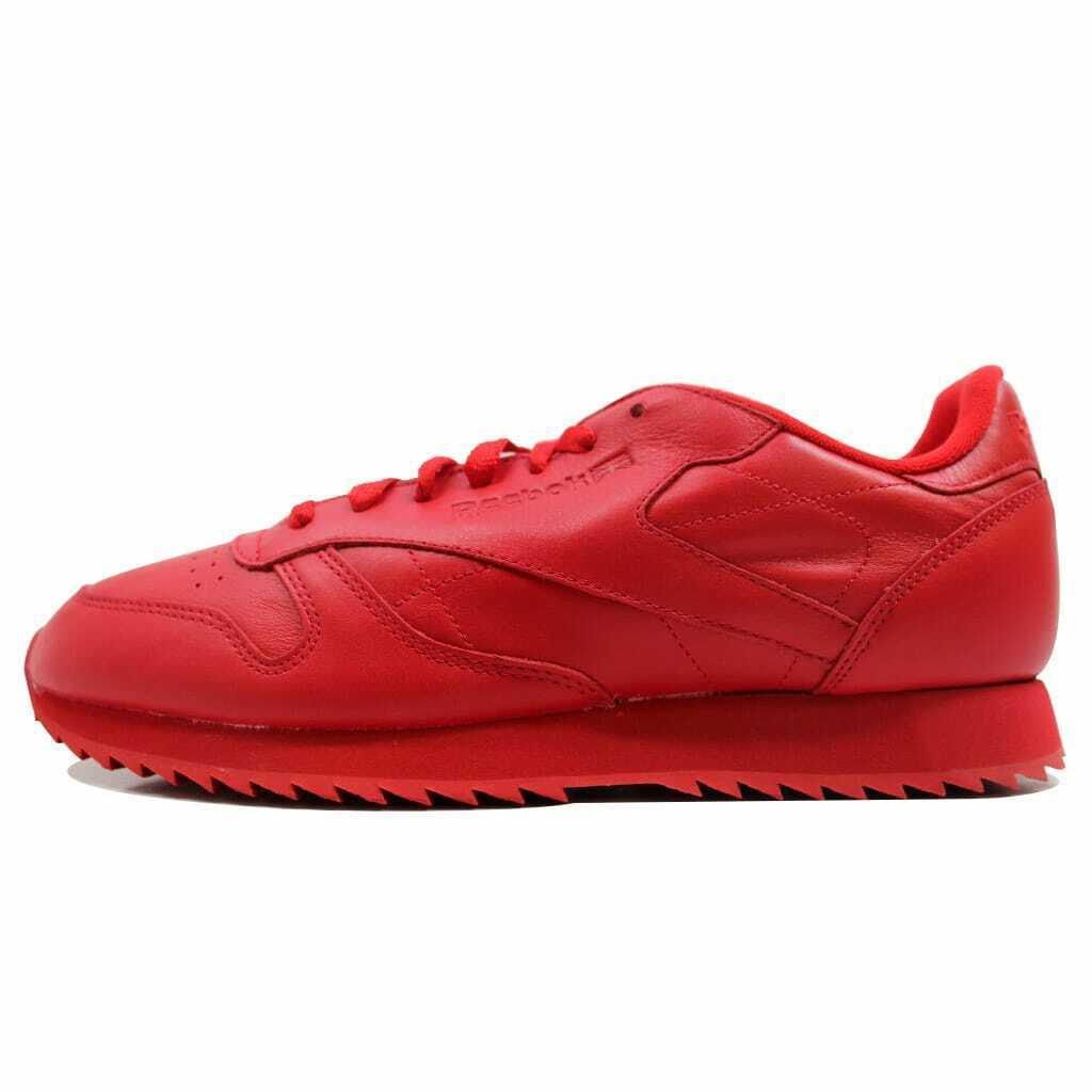 Reebok Classic Leather Ripple Mono Scarlet Red AR2349 Men's SZ 4.5