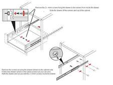 4 Pairs Drawer runner Pr 250mm draw depth for 17mm - 10103