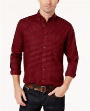 Club Room Mens Red Checkered Long Sleeve Button-down Shirt S BHFO 3718