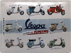 Vespa-Modelo-Grafico-con-Relieve-Acero-Signo-400mm-X-300mm-Na