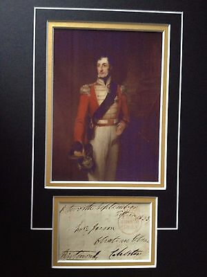 BATTLE OF WATERLOO ARMY OFFICER SIGNED COLOUR DISPLAY SIR HUSSEY VIVIAN