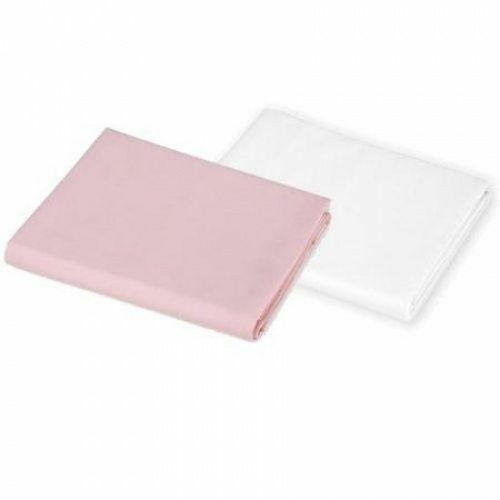 Set 100/% Combed Cotton Sateen Crib Sheet and//or Skirt Pink and//or White Single