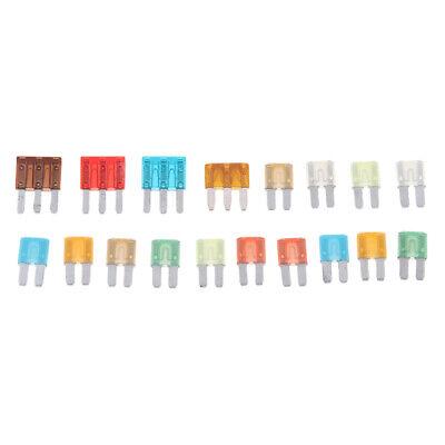 60Pcs 5//10//15//20//25//30A Assorted Auto Car Truck Standard Mini Blade Fuses Kit