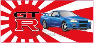 New-Collectable-Rising-Sun-Nissan-Skyline-GTR-R34-Blue