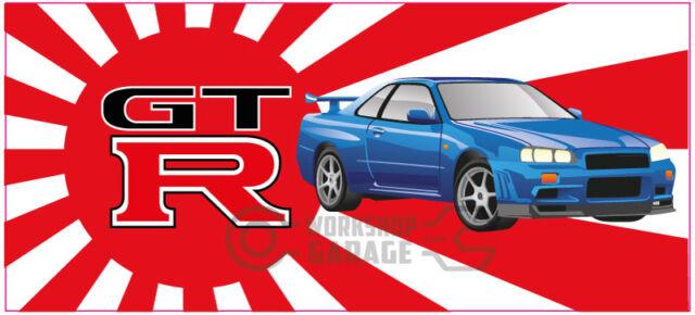 New! Collectable Rising Sun Nissan Skyline GTR R34 - Blue