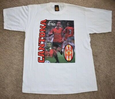Vintage Nwot Nos Manchester United Fc 7 Eric Cantona Graphic T Shirt Sz Xl Ebay