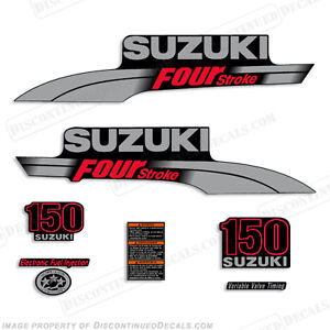 Suzuki Hp FourStroke Outboard Engine Decal Kit DF Marine - Decals for boat motors