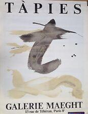 Tapies Antoni Lithographie Affiche 160 x 120 cm art abstrait expo Maeght