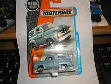 2017 Matchbox #17 '55 FORD F-100 DELIVERY TRUCK☆blue;City Store☆Adventure☆Case A
