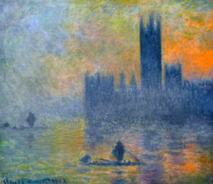 Houses-Of-Parliament-Fog-Effect-by-Claude-Monet-Oil-Painting-Art-Reproduction