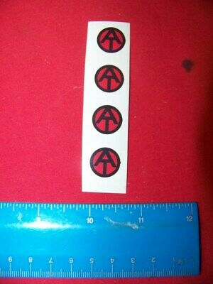 1:6th Scale GI Joe Repro AT Sticker for Uniform Sheet of 4 Transparent Die Cut