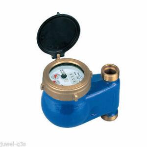 Hauswasserzahler Wasserzahler Wasseruhr Blau Qn 2 5m Senkrecht Steigrohr 3 4 Ebay