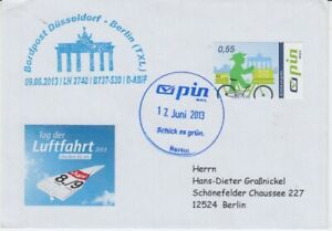 Pin-Berlin-Day-Aviation-Bordpost-Dusseldorf-Berlin-2013-Voucher
