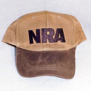 NRA NATIONAL RIFLE ASSOCIATION Suede Cloth Hat Baseball Cap USA SELLER