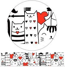 Alideco love heart cats cute kawaii kitsch washi sticky masking deco tape
