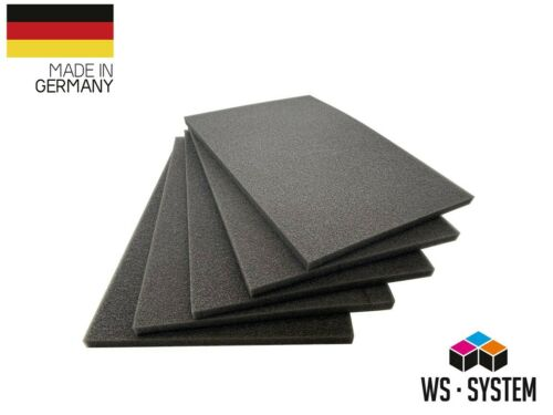 Schaumstoff Zuschnitt Matratze Schaumstoffplatte RG 28 kg //m³ 10mm-Stärke