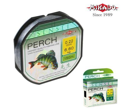 Ligne de pêche Mikado /'Sensei Perch 150 M tous diamètres Tailles Mer Gros Mono