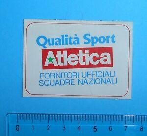 ADESIVO-VINTAGE-AUFKLEBER-STICKER-AUTOCOLLANT-ATLETICA-QUALITA-039-SPORT-5X7-cm
