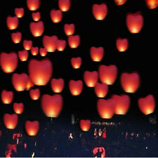 10 RED SALE Heart Shaped Chinese Khoom Make A Wish Love Heart Lantern