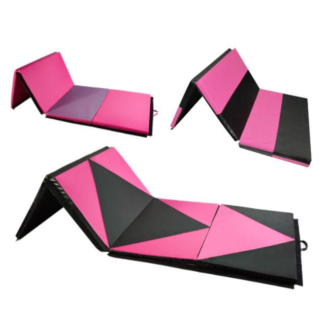 6 4 2 Gymnastics Mats Mat Folding Panel Home Gym Yoga Stretch Pad Fitness