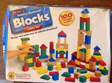 Lakeshore Tabletop Hardwood Blocks Class Set 100 Wooden Blocks BC302 18 Months+