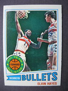 1977-1978-Topps-Basketball-Card-40-ELVIN-HAYES-Washington-Bullets-NM