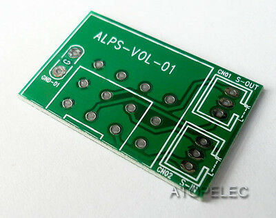 1pc PCB for ALPS RK27 RK16 Potentiometer 3pin / 4pin Stereo Tinned