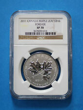 2011 CANADIAN $10 Silver Maple Leaf Forever - Reverse Proof (NGC SP70)