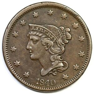 1840-N-5-R-1-Large-Date-Braided-Hair-Large-Cent-Coin-1c