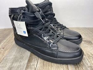 Black Cadillac High Top Shoes Size 10.5