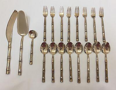 19-Piece Solid Nickel Bronze Flatware BAMBOO Pattern Thailand (RF530) & Rosewood bronzware collection on eBay!