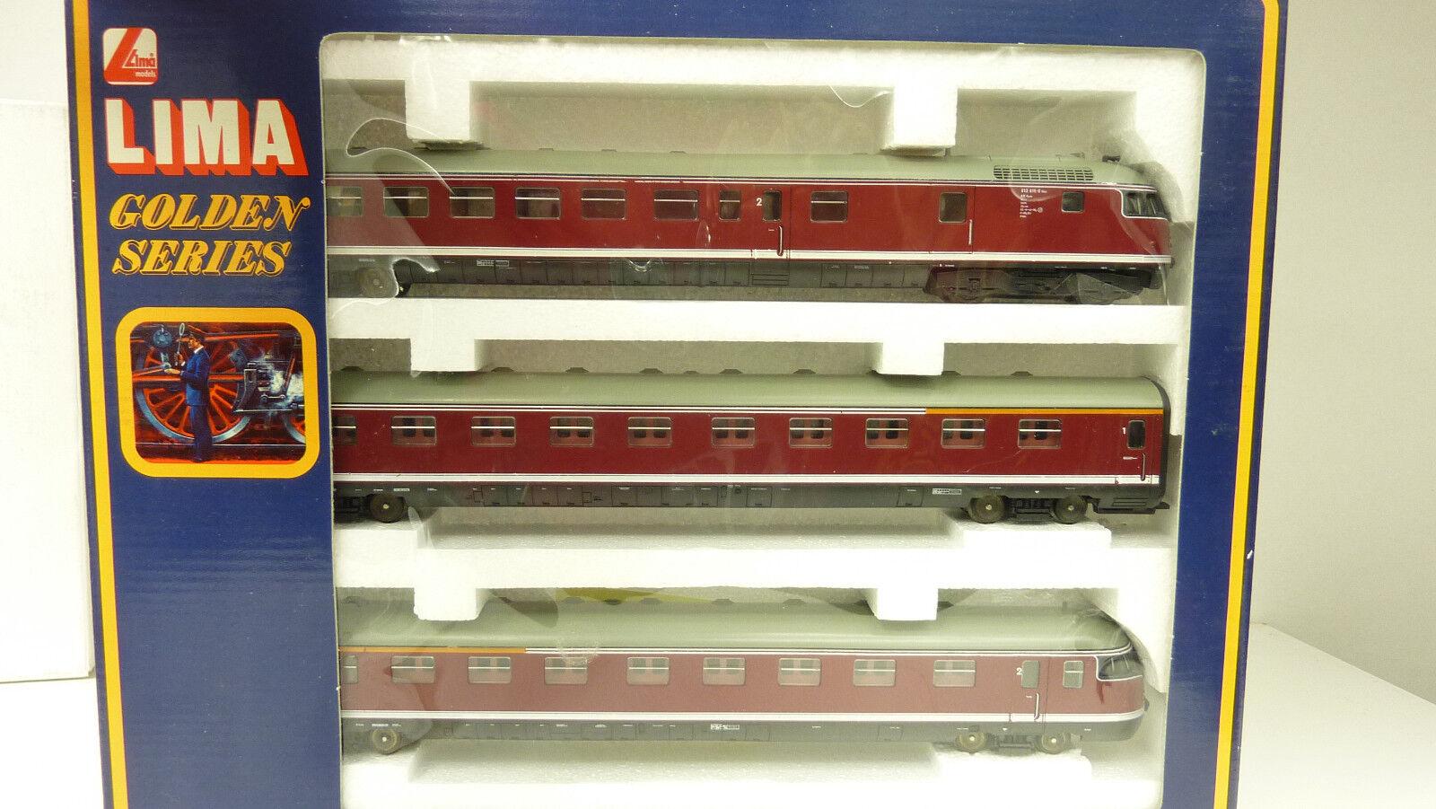 LIMA h0 149808 triebwagenzug 3tlg. br 613 uova testa DB ben tenuto in scatola originale (lz7555)
