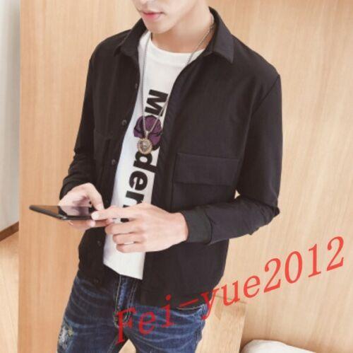 Men/'s Short Mixed Color Lapel Collar Long Jacket Slim Tops Coat Outwear Blazer