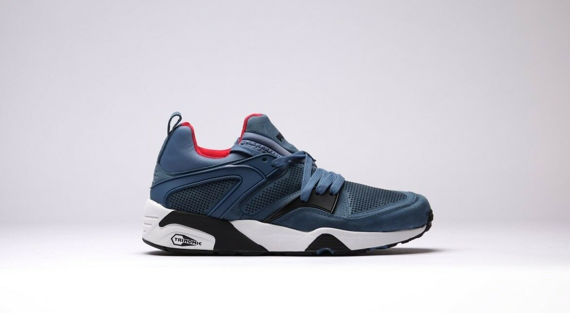 Puma Trinomic Blaze Tech   357418 03 bluee Red White Sz 8 - 10.5